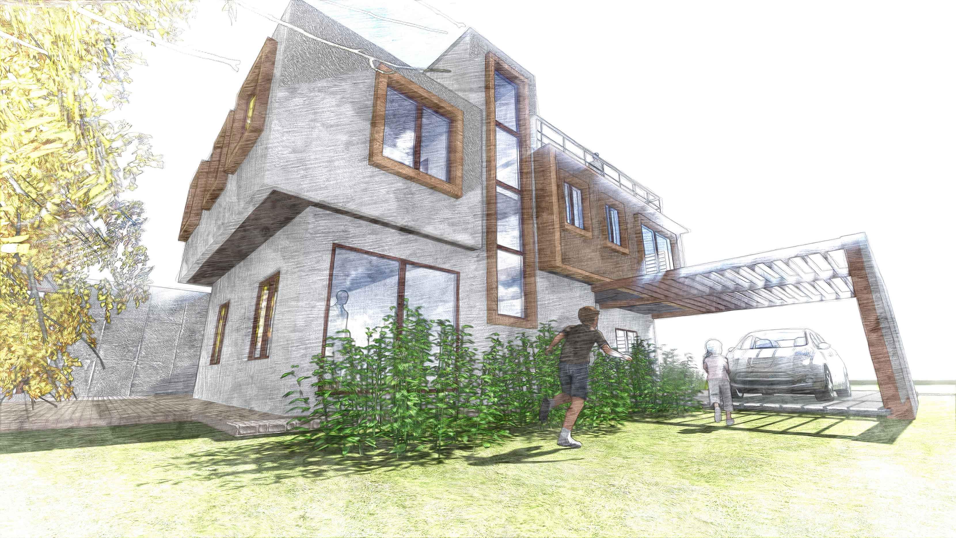 Biourban casa mislan vitacura chile for Crear viviendas